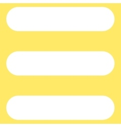 Stack flat white color icon vector