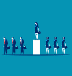 Standing out from crowd business concept vector