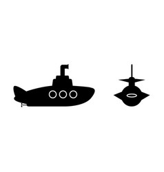 submarine icon symbol design from view army vector image