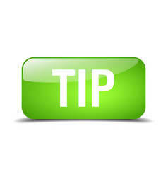Tip green square 3d realistic isolated web button vector