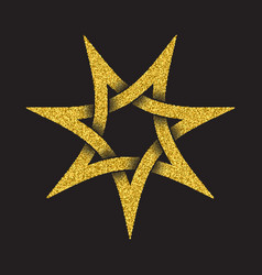 Tribal symbol in seven pointed star form vector