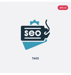 two color tags icon from search engine vector image