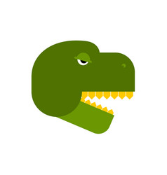 tyrannosaurus face angry dinosaur head t-rex front vector image