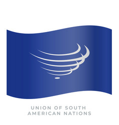 union of south american nations waving flag vector image