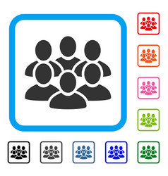 User crowd framed icon vector