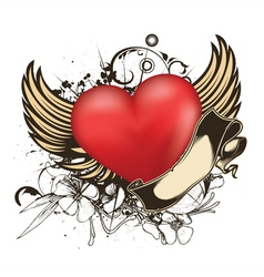 valentine emblem vector image vector image