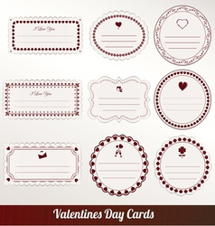 Valentines day card set vector image