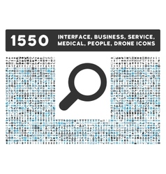 View Icon and More Interface Business Tools vector image