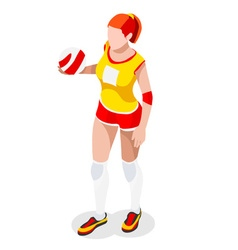 Volleyball 2016 Sports 3D Isometric vector image
