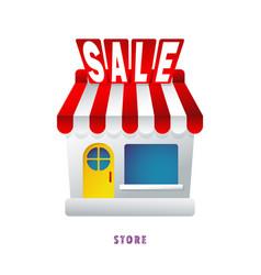 Webstore discount sale flat gradient vector