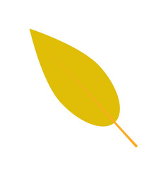 willow leaf icon flat style vector image