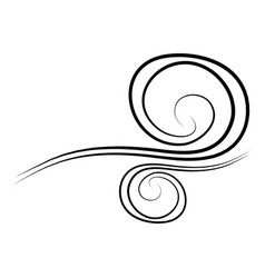 Wind doodle blow gust design isolated on white vector