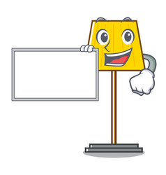 with board floor lamp character cartoon vector image