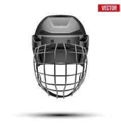 Classic black Goalkeeper Hockey Helmet isolated on vector image