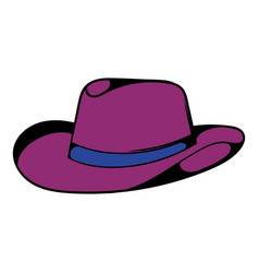 cowboy hat icon icon cartoon vector image