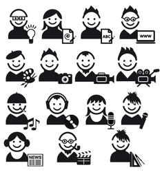 creative people icon set vector image vector image