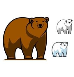 Funny cartoon bear mascot vector image