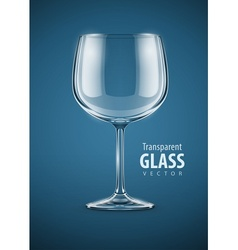 glass goblet for wine drink vector image vector image
