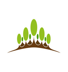 green nature symbol element and icon vector image vector image