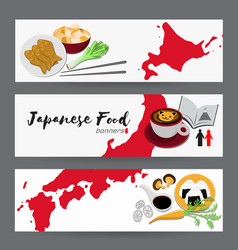 set of japanese food banners design templates vector image vector image
