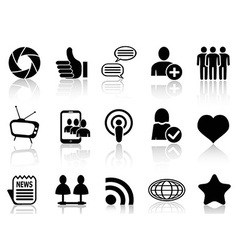 Social Networking and communication icons set vector image vector image