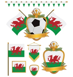 wales flags vector image vector image