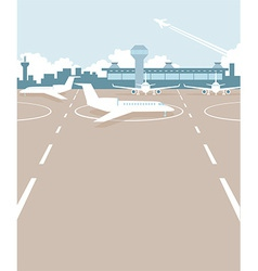 Airport field vector image vector image