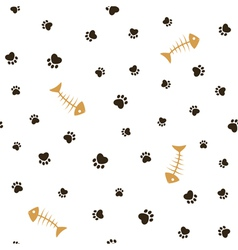 Cat theme seamless background vector image vector image
