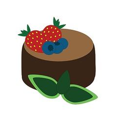 Chocolate dessert vector image vector image