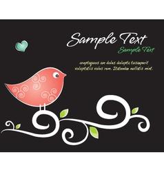 Crafty bird background vector