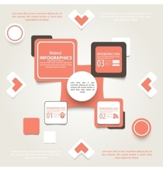 Modern design infographic template Numbered vector image