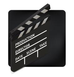 movie clapper board isometric vector image