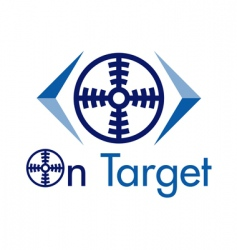 on target logo vector image vector image
