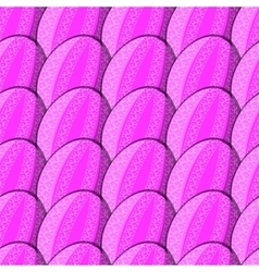 seamless pattern of eggs with curl vector image