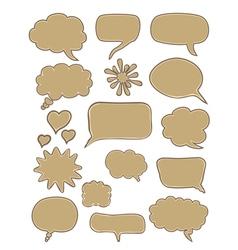 set of cartoon speech bubbles vector image vector image