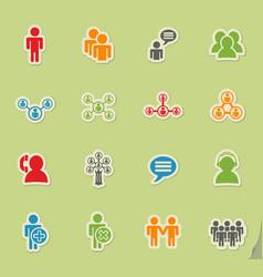 community icon set vector image