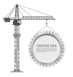 crane lifts the gear vector image vector image