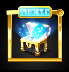 cyber monday banner template vector image vector image