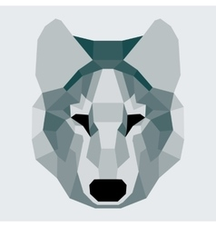 Dark green low poly wolf vector image