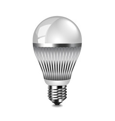 led light bulb isolated on white vector image
