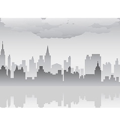 pollution city vector image vector image