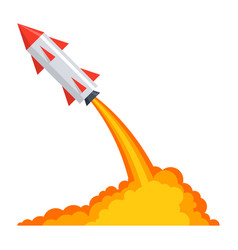 ballistics with rocket launch vector image