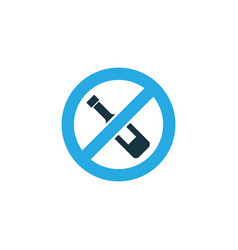 forbidden colorful icon symbol premium quality vector image