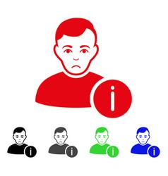 sad user info icon vector image