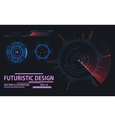 Web or game user interface futuristic elements vector image