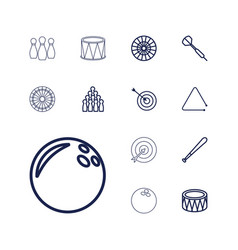 13 hit icons vector