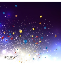 Abstract Christmas background with stars confetti vector image