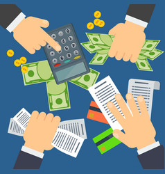 accounting business concept vector image