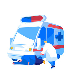 ambulance medical staff service occupation medic vector image