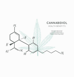 Background banner poster with cbd formula vector
